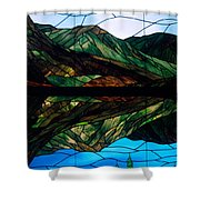 Scenic Stained Glass  Shower Curtain