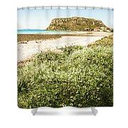 Scenic Stony Seashore Shower Curtain