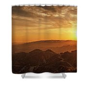 Scenic Sunset Over Hollywood Hills Shower Curtain
