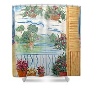 Scenic View From The Terrace Shower Curtain