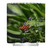Scenic View Of An Orange Oak Tiger Butterfly Shower Curtain