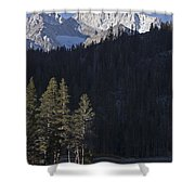 Scenic View Of Mount Abbot 13701 Ft Shower Curtain