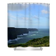 Scenic Views Of Ireland's Cliff's Of Moher In County Clare Shower Curtain