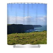 Scenic Views Of The Cliff's Of Moher In Ireland Shower Curtain