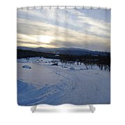 Scenic Vista From Marshfield Station In The White Mountains New Hampshire Usa Shower Curtain