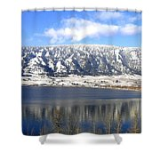Scenic Wood Lake Shower Curtain