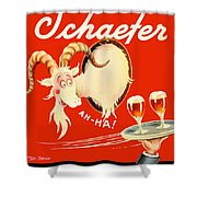 Schaefer Beer Vintage Ad Shower Curtain