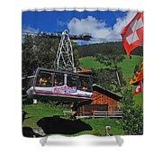 Schilthorn Cable Car Murren Shower Curtain