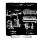 Schmidts Of Philadelphia Cold Beer Tap In Black Shower Curtain