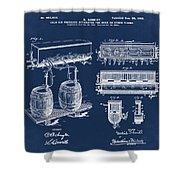 Schmidts Of Philadelphia Cold Beer Tap In Blue Shower Curtain