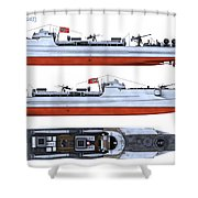 Schnellboot S100 Shower Curtain