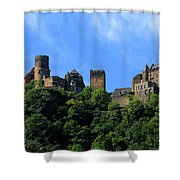 Schoenburg Castle Oberwesel Germany Shower Curtain