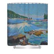 Schoodic Inlet Shower Curtain