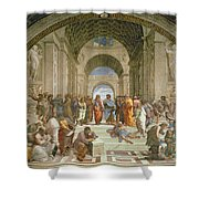 School Of Athens From The Stanza Della Segnatura Shower Curtain by Raphael