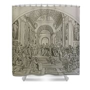 School Of Athens/ Homage To Raphael Shower Curtain