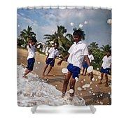 School Trip To Beach IIi Shower Curtain