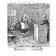 Schoolhouse, 1877 Shower Curtain by Granger