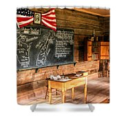 Schoolhouse Classroom At Old World Wisconsin Shower Curtain