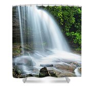 Schoolhouse Falls In Nantahala National Forest Panorama Shower Curtain