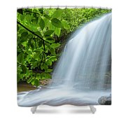Schoolhouse Falls In Panthertown Valley North Carolina Shower Curtain
