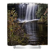 Schoolhouse Falls Shower Curtain by Rob Travis