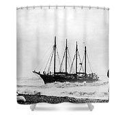 Schooner Shipwreck Shower Curtain