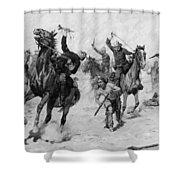 Schreyvogel: Attack, 1905 Shower Curtain
