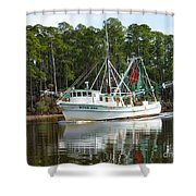 Schrimp Boat On Icw Shower Curtain