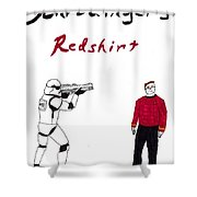 Schrodingers Redshirt Shower Curtain