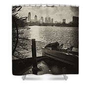 Schuylkill River In Winter Shower Curtain