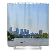 Schuylkill River Panorama - Philadelphia Shower Curtain