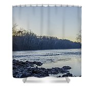 Schuylkill River Sunrise Linfield Pa Shower Curtain