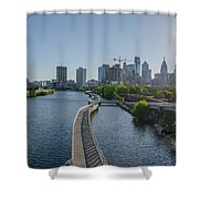 schuylkill River Walk from South Street Bridge Shower Curtain