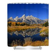 Schwabacher Landing Panorama Shower Curtain