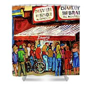 Schwartzs Deli Lineup Shower Curtain
