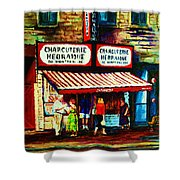 Schwartzs Famous Smoked Meat Shower Curtain