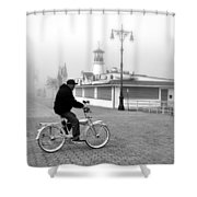 Schwinn And Sinatra Shower Curtain
