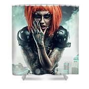 Sci-fi Beauty 3 Shower Curtain