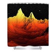 Sci Fi Mountains Landscape Shower Curtain