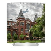 Science And Arts Building Shower Curtain