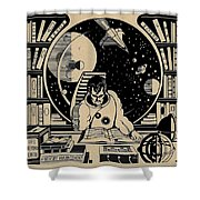 Science Books Shower Curtain