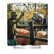 Science In Africa Shower Curtain