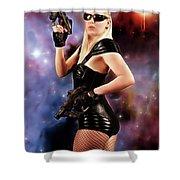 Scifi Heroine Shower Curtain
