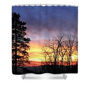 Scintillating Sunset Shower Curtain