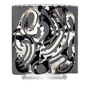 Scissor-cut Abstraction Shower Curtain