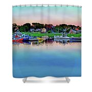 Scituate Harbor At Sunset Shower Curtain