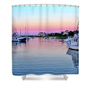 Scituate Harbor Sunset Shower Curtain