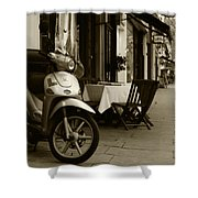 Scooter Cafe Shower Curtain