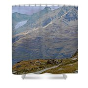 Scoping The Alps Shower Curtain