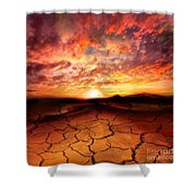 Scorched Earth Shower Curtain